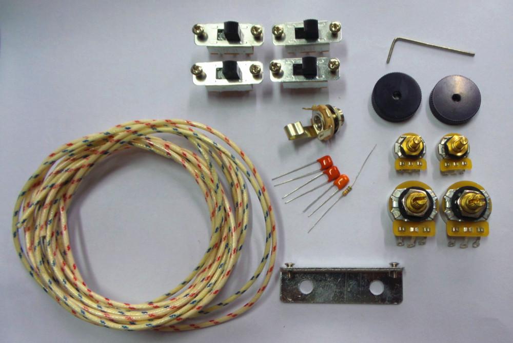new wiring kit for jaguar custom cts pots switchcraft jack black slide switch bracket rollder. Black Bedroom Furniture Sets. Home Design Ideas