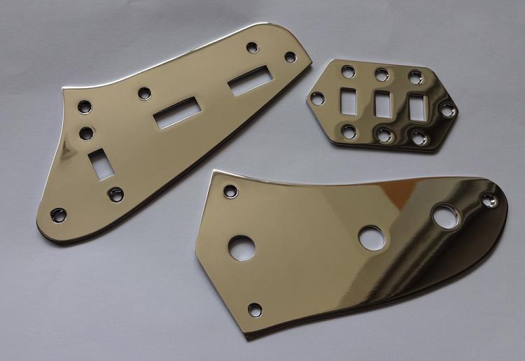 kit chrome plate for fender jaguar slide switch plate pot plate. Black Bedroom Furniture Sets. Home Design Ideas