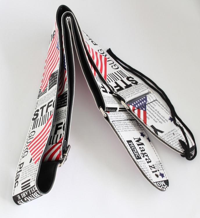 2 width length adjustable pu leather guitar strap gs565. Black Bedroom Furniture Sets. Home Design Ideas
