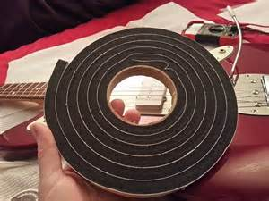 pickup height adhesive mute rubber foam strips for jazzmaster jaguar p bass jazz etc width 20mm. Black Bedroom Furniture Sets. Home Design Ideas