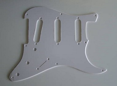 Stratocaster '57 pickguard 1ply White 2.3mm thickness fits fender new