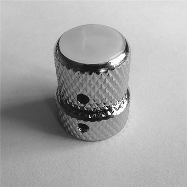 Pearl White top,Dual Screw style Control Knob for Dual Pot,Chrome