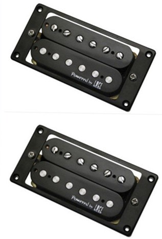 Powered by LACE pickup,Humbucker Pickup,Black,Neck and Bridge,LHP-002BK