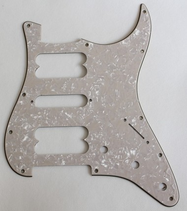 aged white light cream pearl strat 2h 1s hsh pickguard. Black Bedroom Furniture Sets. Home Design Ideas