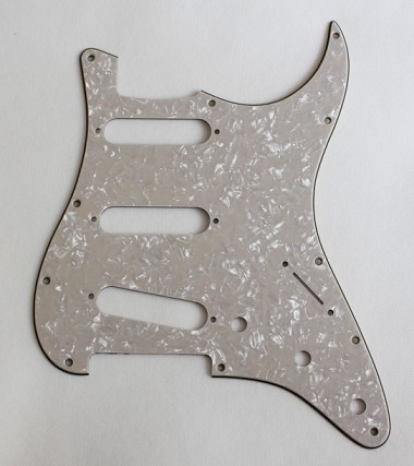 Stratocaster Standard pickguard Aged White+Light Cream Pearl,fits fender new