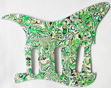 Celluloid Plastic,New Green Abalone Material Strat Pickguard,fIts American Standard