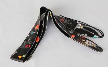 2 width length adjustable pu leather guitar strap gs553. Black Bedroom Furniture Sets. Home Design Ideas