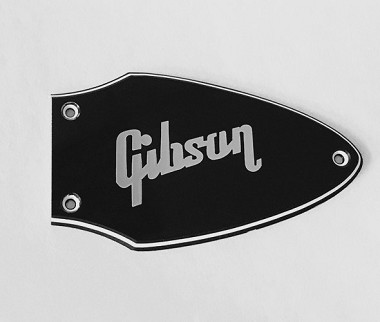 3 Ply Black,Truss Rod Cover for Gibson Flying V Black With Chrome