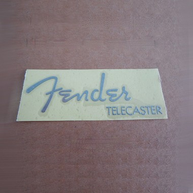 Chrome color SelfSticker Metal logo for Fender Telecaster Repair