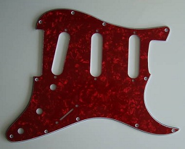Stratocaster Standard pickguard 3ply Red Pearl fits fender new,#V008