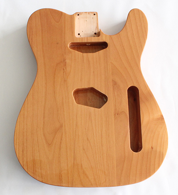 tele guitar body alder wood natural gloss finish not drilled string through body ferrule holes. Black Bedroom Furniture Sets. Home Design Ideas