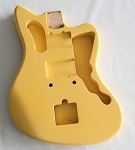 Jazzmaster Guitar Body,Alder Wood,Yellow Cream Gloss Finish