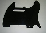 Satin(Matte) Black,1ply,5-mounting hole,thickness 2mm,Fits Fender Telecaster '52 pickguard