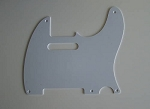 Telecaster '52 pickguard 1ply White  thickness 1.5mm fits fender,#U030