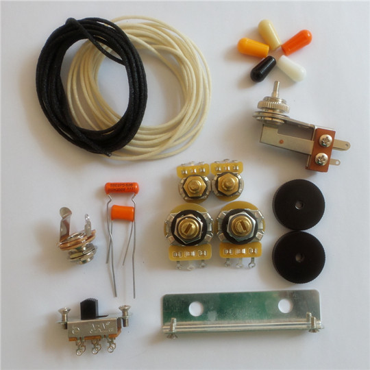 Wiring Kit,for Jazzmaster custom,CTS Pots,Slide Switch,Right Angle toggle  switch,bracket,rollder knob,Capacitor,WireEY Guitar