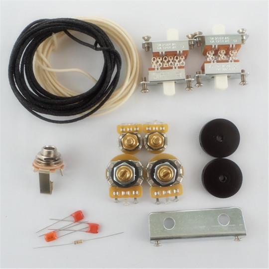 new wiring kit for jaguar custom cts pots switchcraft jack white slide switch bracket rollder. Black Bedroom Furniture Sets. Home Design Ideas
