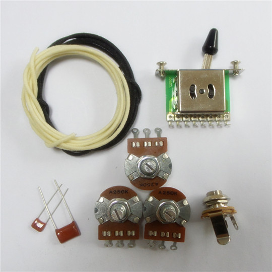 wiring kit for strat custom alpha a250k pot level switch and capacitor wire wk st64. Black Bedroom Furniture Sets. Home Design Ideas