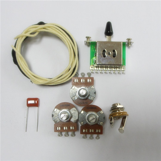 wiring kit for strat custom alpha a500k pot level switch capacitor wire wk st65. Black Bedroom Furniture Sets. Home Design Ideas