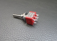 1PCS,Flat Handle Mini Toggle Switches,6pcs of Small Foot,ON-ON,Nickel