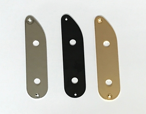 Chrome/Black/Gold Control Plate for custom made 51 P bass