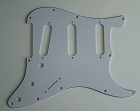 Stratocaster Standard pickguard 3ply White fits fender new,#V036