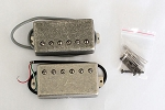 Antiqued Sliver finish Cover,LP covered Humbucker Pickup,Neck and Bridge set,Alnico
