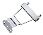 6 Strings,Jazz,Hollowbody Guitar Tail Piece Tailpiece,Chrome,#SMS-602
