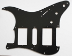 Black,Strat 2H/1S(HSH) pickguard,Fits Covered and open Humbucker Pickup