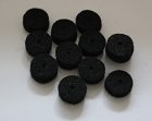PACK12PCS* Strap Pin,End Pin Felt Washers,Black
