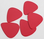 50Pcs*Red Color,Plastic ABS Guitar Picks 0.71mm