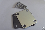 New Chrome Neck Plate w/ Screw fit Fender Strat Tele