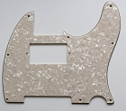 Cream Pearl, Tele humbucker cut-out pickguard 8-hole mounting