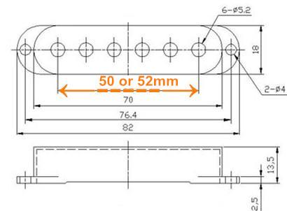 aged white strat pickup cover knobs tips 50mm or 52mm pickup string spread. Black Bedroom Furniture Sets. Home Design Ideas