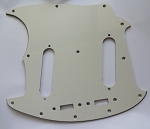 NEW 3 Ply Parchment Pickguard fits Fender USA Mustang Guitar