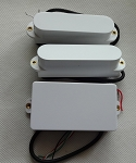 Artec Power Single Pickups SMDA35 Neck/Middle,Hum Cancelling,+1 Humbucker Bridge,White cover,SSH(Alnico)