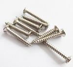 PACK8*Chrome Humbucker pickup Ring mounting screws,size:2.6mm*18mm