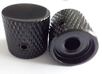 2Pcs*Black Solid Metal,Flat Top Knob,Screw style
