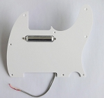 Lipstick Pickup,Chrome,Alnico V,and with matched 1 ply pickguard,Color Choice:White or Black