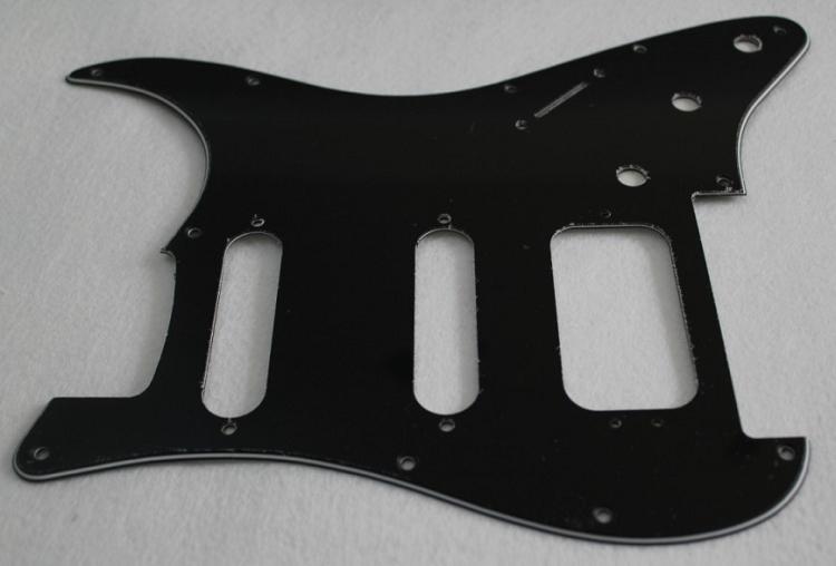 Black 3ply Strat Pickguard Fits Fender Floyd Rose Hss Stratocaster  Humbucker With 3 Pickup