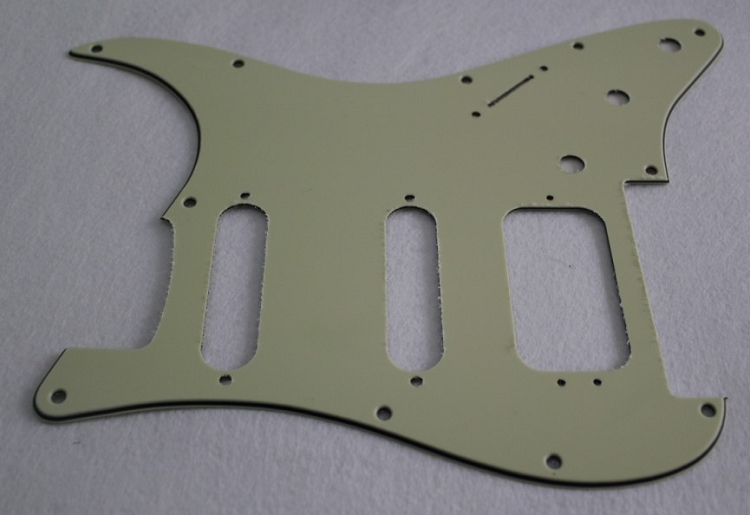 Mint Green Strat Pickguard,Fits Fender Floyd Rose HSS  Stratocaster,(Humbucker with 3 pickup mounting holes)