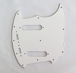 NEW 3 Ply White Pickguard fits Fender USA Mustang Guitar
