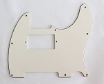 Parchment 3 ply,Tele humbucker cut-out pickguard 8-hole mounting
