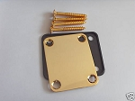 New Gold Neck Plate w/ Screw fit Fender Strat Tele