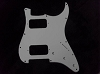 Strat HH pickguard White 3 PLY for Fender body custom