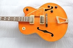 Old Stock,Electric Hollowbody Guitar,and hardware is some rusty,never played,Free Shipping,#1758