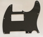 Black,Tele humbucker cut-out pickguard 8-hole mounting,3Ply