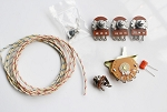 Wiring Kit,for Strat custom,Alpha A500K pot,Quality Level Switch,0.047 capacitor,Wire,#WK-ST67
