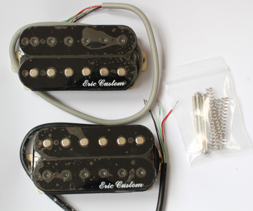 eric custom 106 a humbucker pickup black gloss finish alnico neck bridge. Black Bedroom Furniture Sets. Home Design Ideas