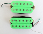 Artec HOC112-GR,Green Open Humbucker Pickup (Ceramic Bar)