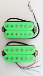 Artec HOA112-GR,Green Open Humbucker Pickup (Alnico Bar)